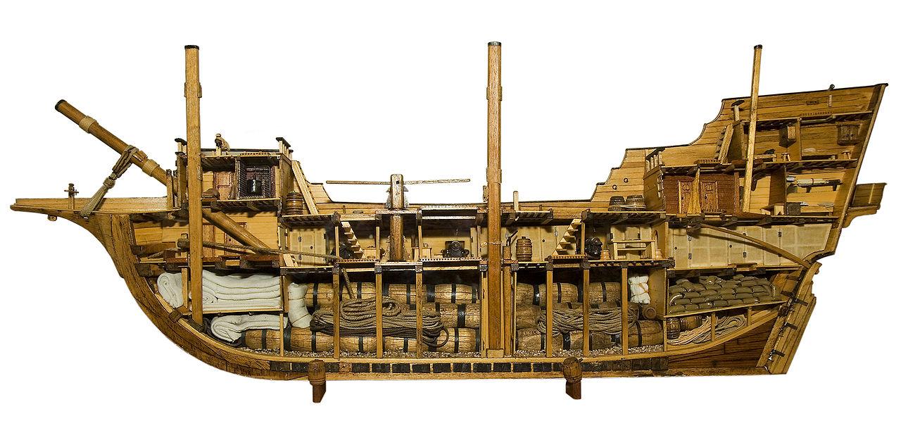 17th century merchant ship cut in half