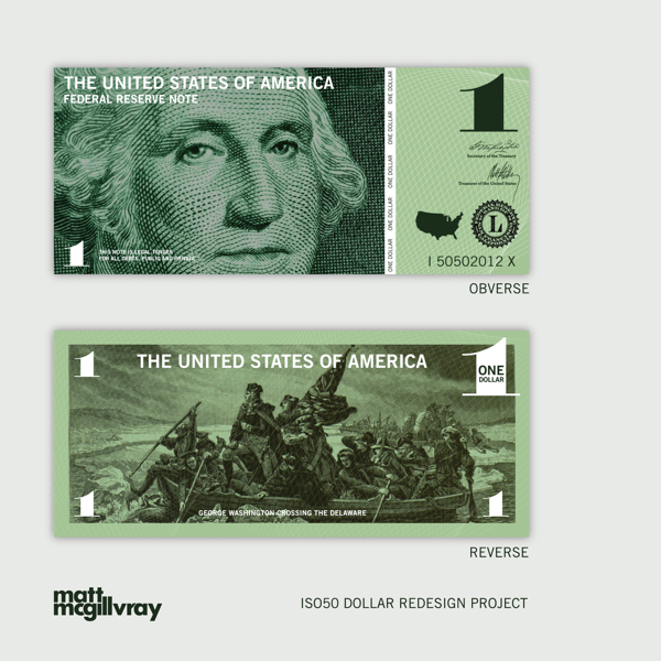 Dollar Redesign Project by Matt McGillvrayCurrency Redesign