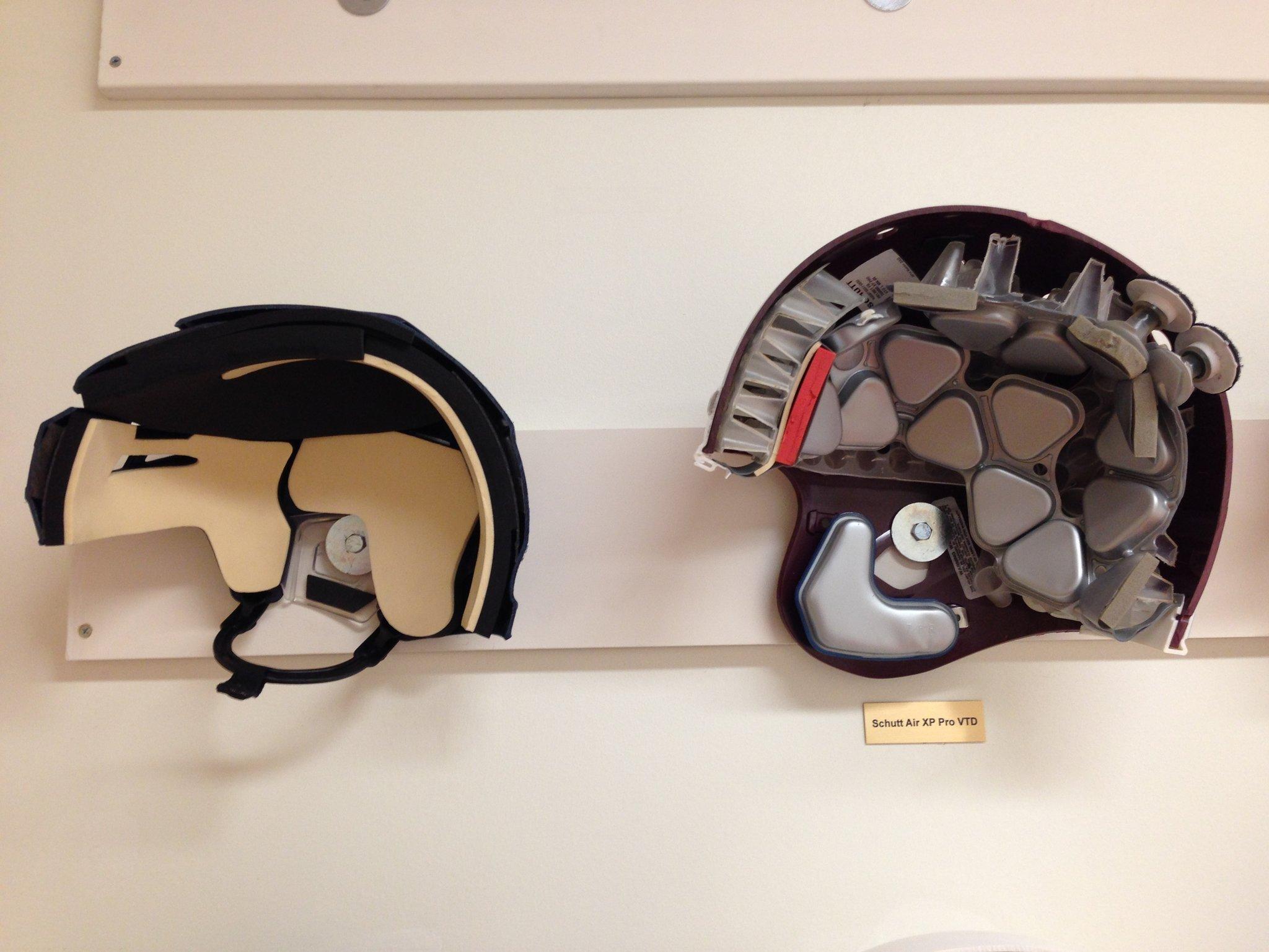 Hockey Helmet and Football Helmet