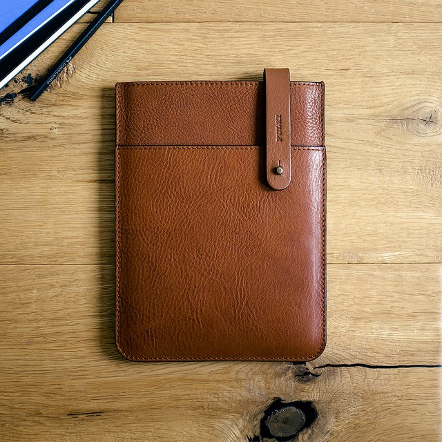 iPad Mini Leather Belt Sleeve in Cuoio