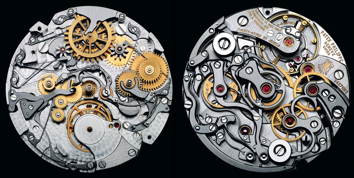 The insides of a Patek Philippe watch