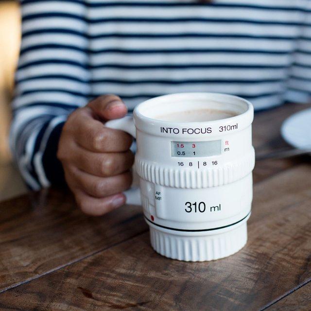 White Into Focus Lens Mug