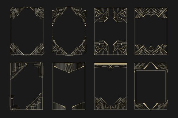 16 Art Deco Borders