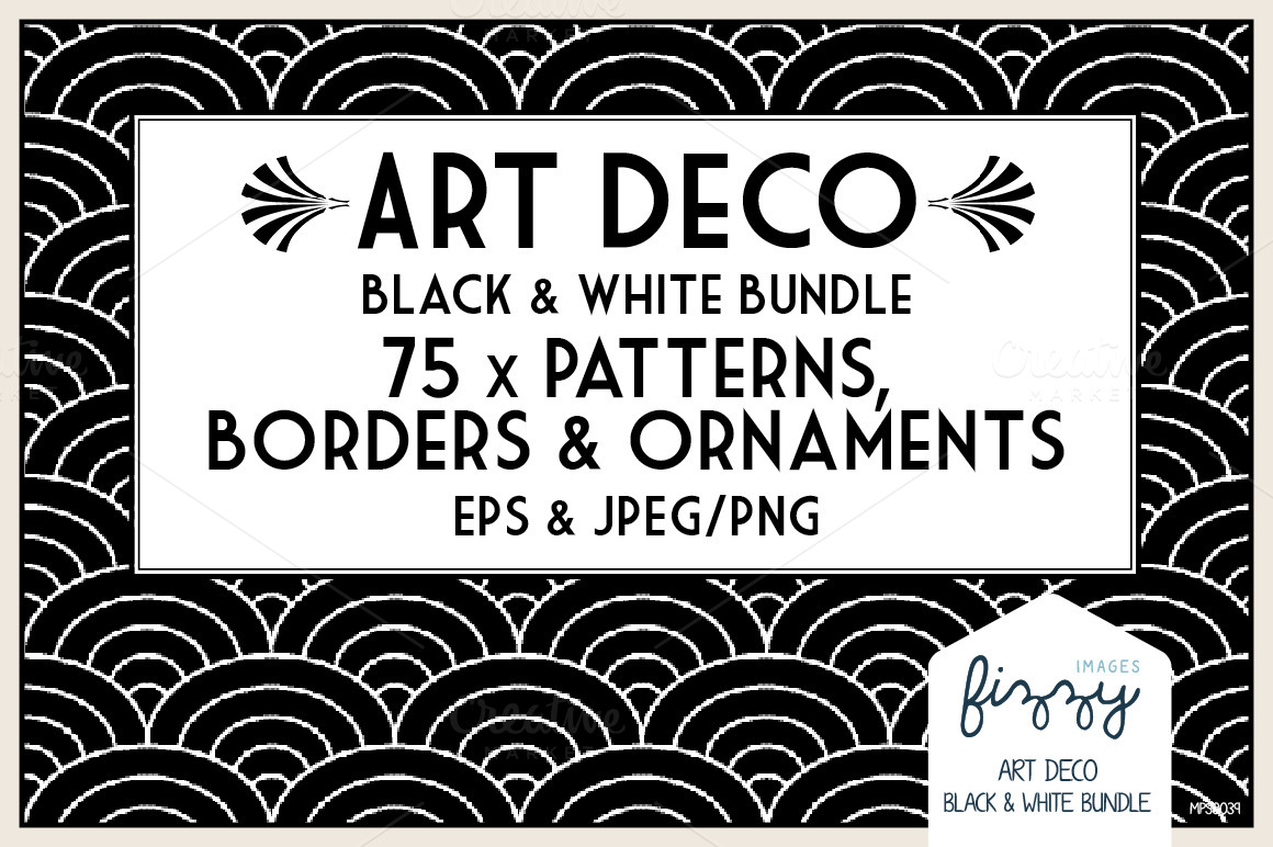 Deco Patterns Black And White Border 40 Remarkable Art Deco Designs