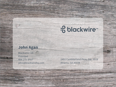 Blackwire Card by Alen Type08 Pavlovic