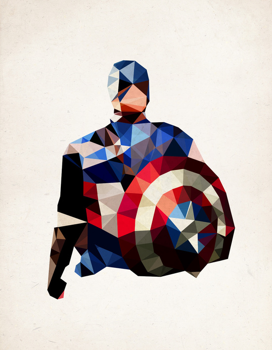Captain America by PolygonHeroes