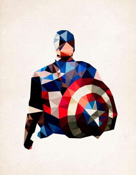 Captain America by PolygonHeroes