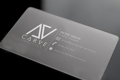 Carve Creative Business Card by Brodie Herden