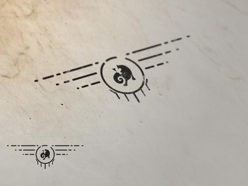 Cat Logo Stamp by Jamal