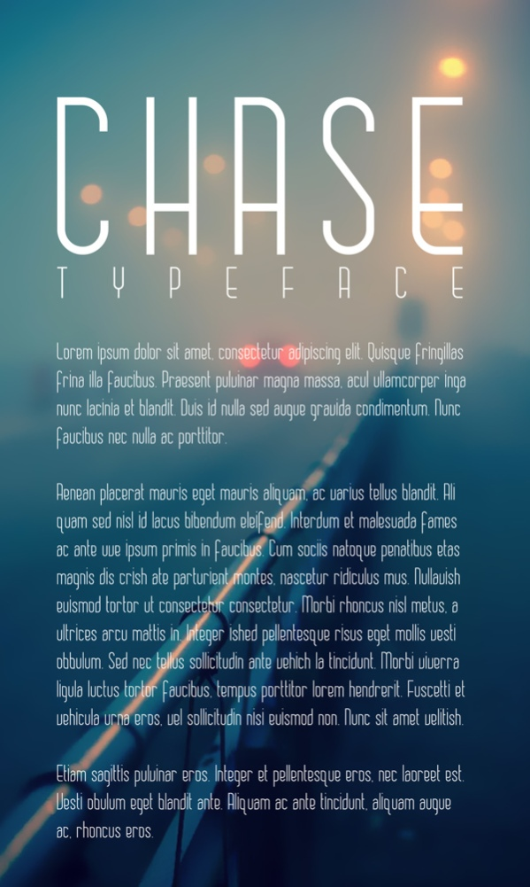 Chase Typeface