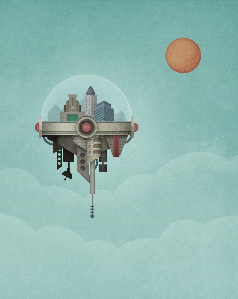 City in the sky by Edokoa