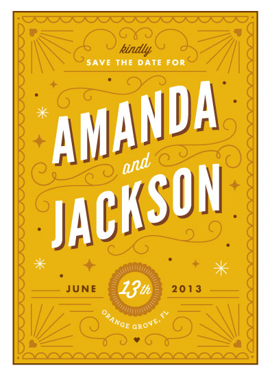 Deco Save The Date by Kristen Smith