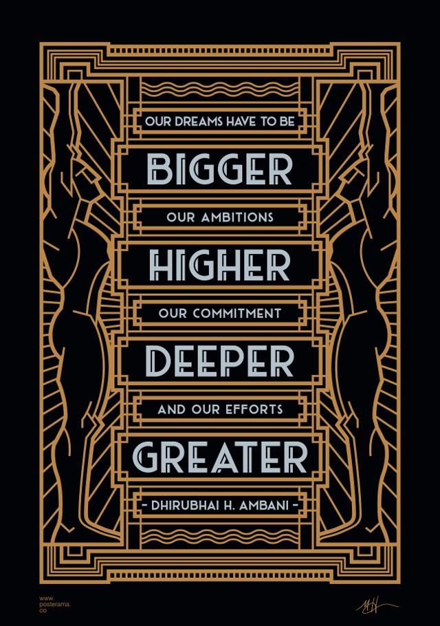 Dream Bigger Print by Mike Harpin