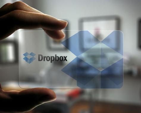 dropbox business card plastic