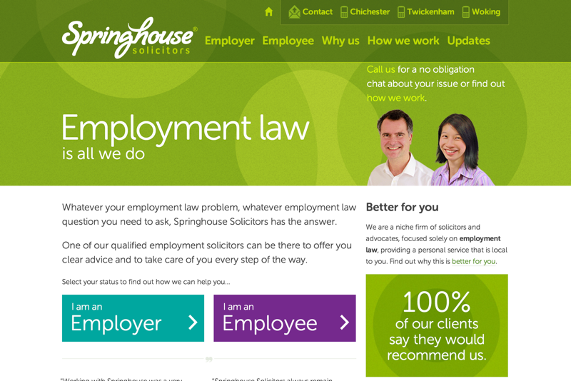 Employment law is all we do | Springhouse Solicitors (20150122)