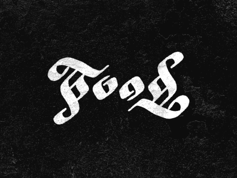 Food Ambigram by Matt Vergotis