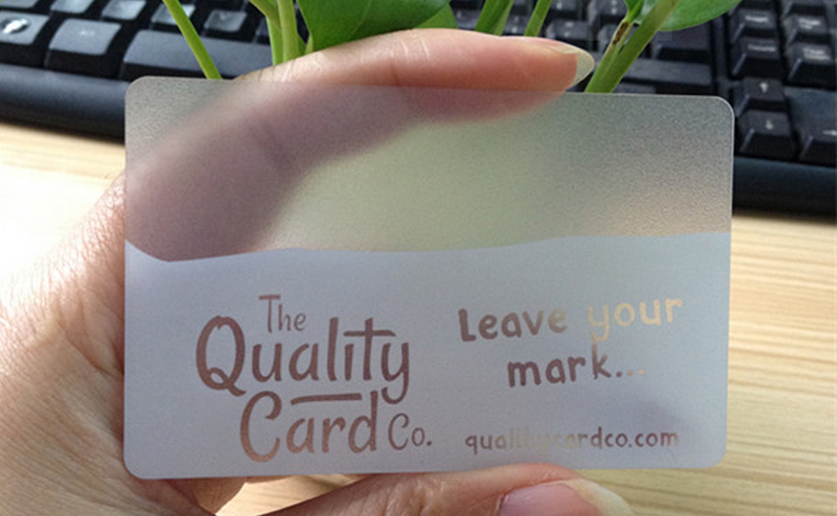 Frosted Clear business card