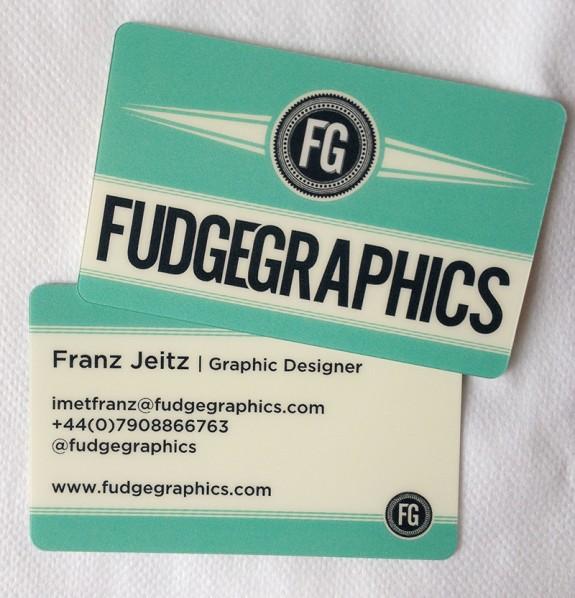 fudgegraphics plastic business card