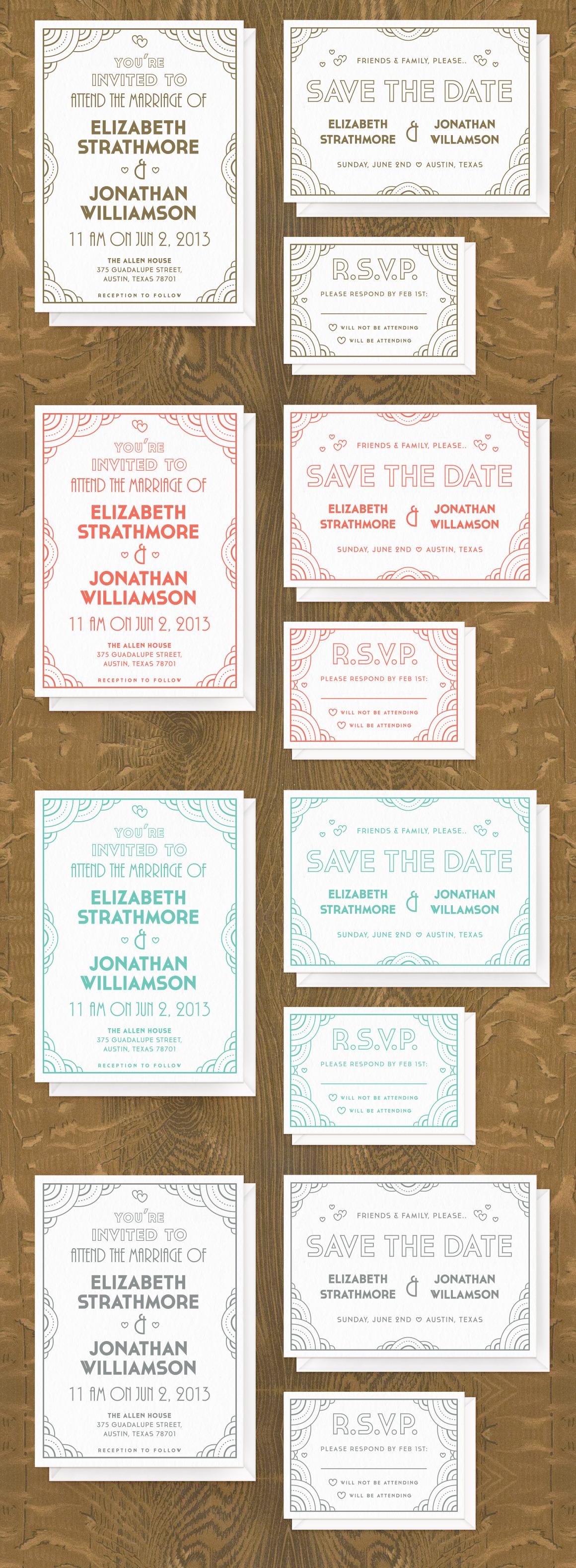 FutureDeco Wedding Invite Suite