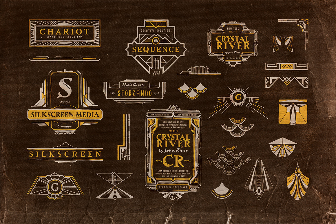 Handwritten Artdeco Elements