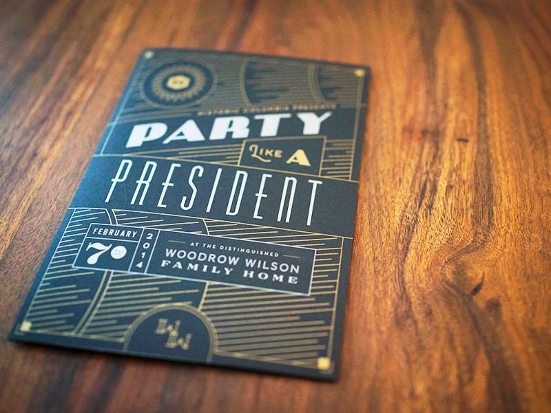 Historic Columbia Gatsby Invitation by Bethany Heck