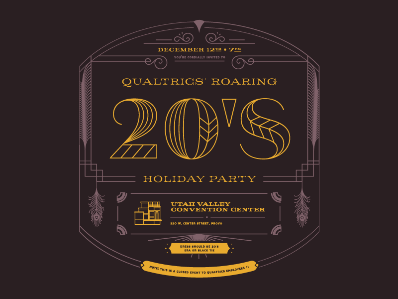 Holiday Party Invite Front by Kyle Wayne Benson