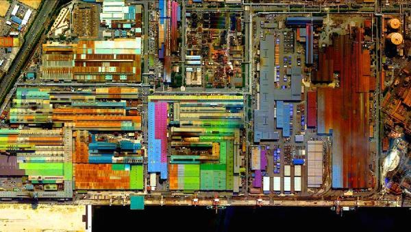 Industrial buildings in Tokai, Japan