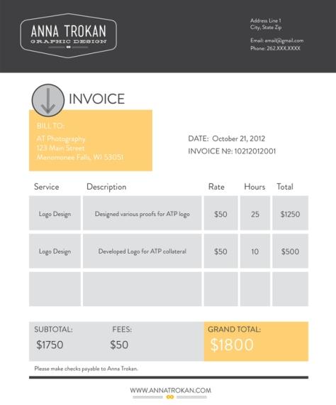 Invoice by Anna Trokan