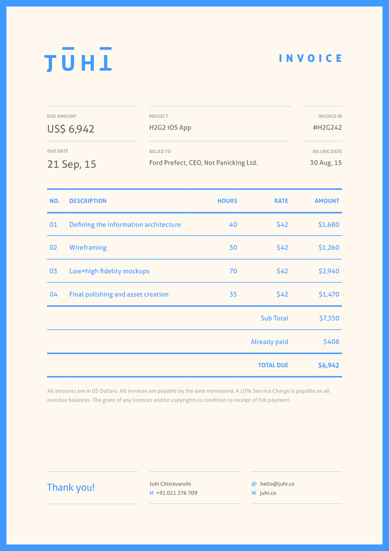 Usdgus  Prepossessing Dont Hold Back On Your Invoice  Inspiring Designs  With Gorgeous Invoice By Juhi Chitravanshi Follow With Agreeable Easy Invoice Maker Also Invoice Finance Factoring In Addition Express Invoice Invoicing Software And Custom Made Invoices As Well As Google Docs Invoice Templates Additionally Adams Invoices From Inspirationfeedcom With Usdgus  Gorgeous Dont Hold Back On Your Invoice  Inspiring Designs  With Agreeable Invoice By Juhi Chitravanshi Follow And Prepossessing Easy Invoice Maker Also Invoice Finance Factoring In Addition Express Invoice Invoicing Software From Inspirationfeedcom