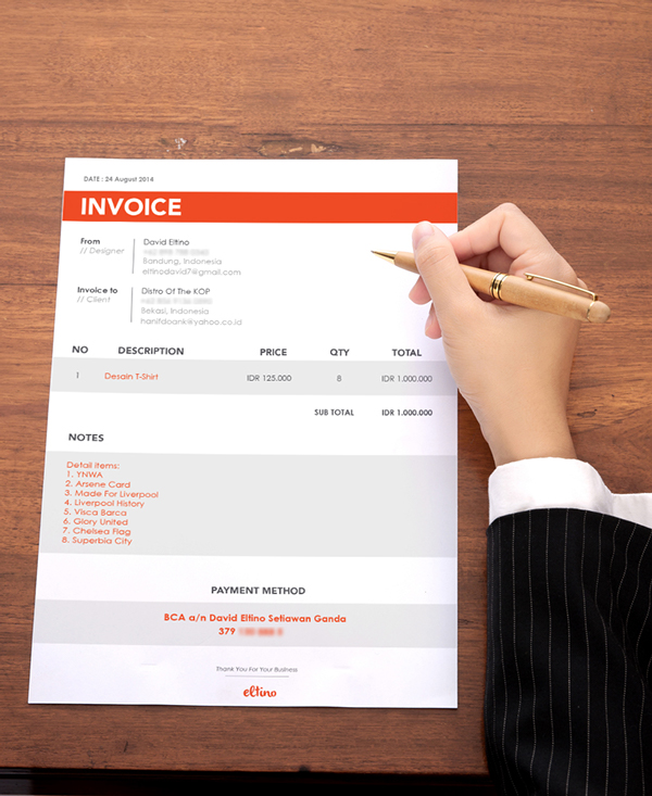 Invoice Design by David Eltino