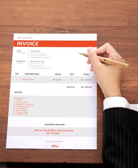 Invoice Design by David Eltino