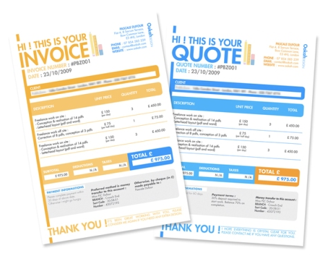 Invoice & Quote Design by Pascale Dufour