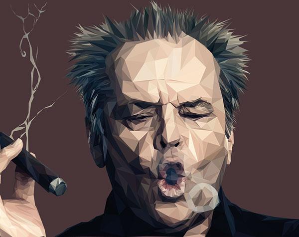Jack Nicholson by Paul Douard