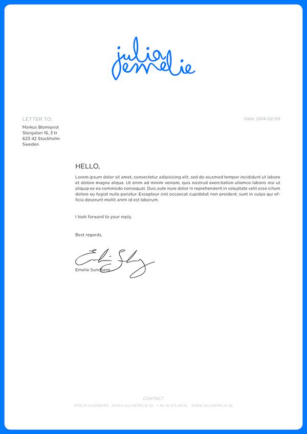 Juliaemelie Invoice by Emelie Sundberg