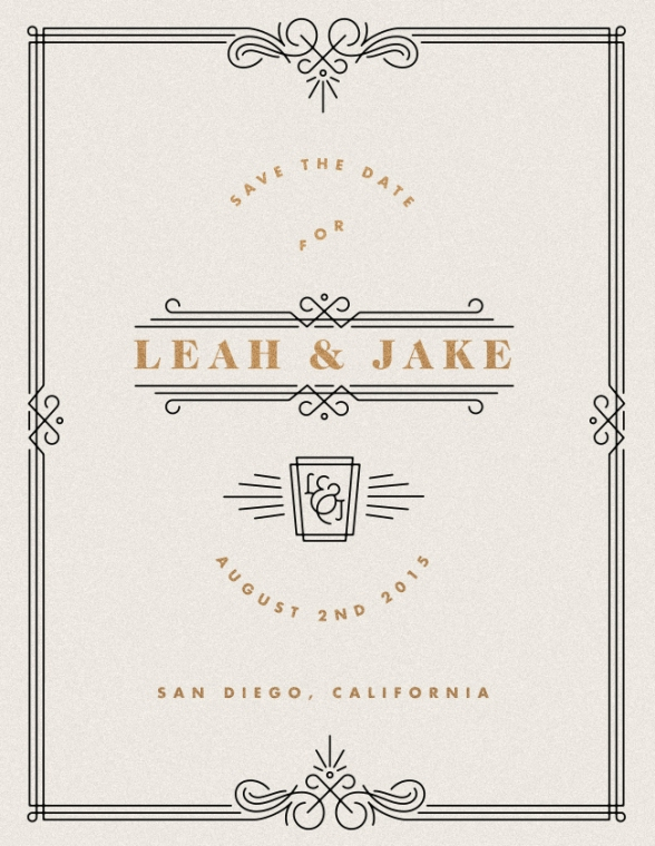 L & J Save the Date by David M. Smith