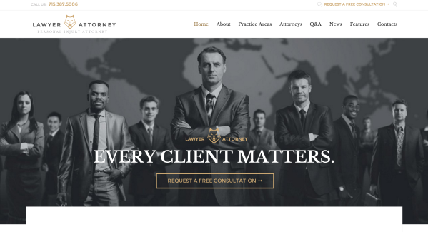 Legal Office Responsive Theme