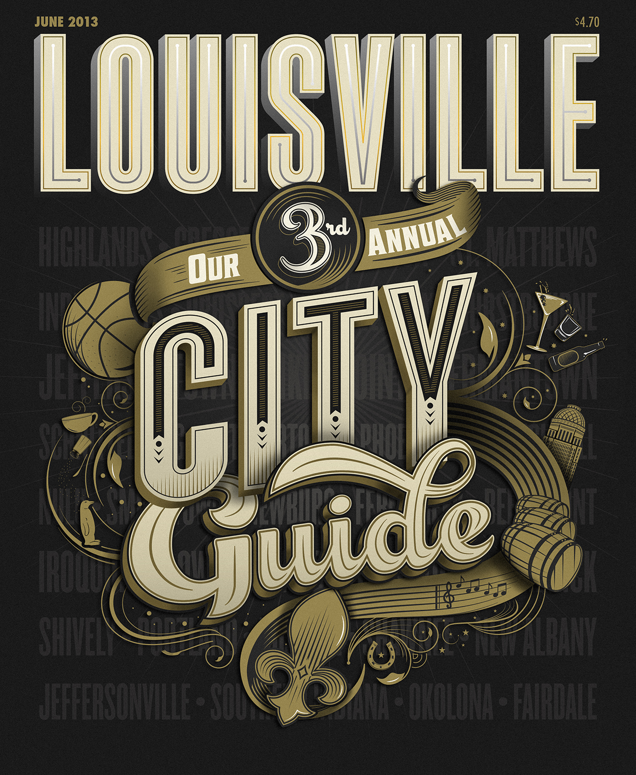 Louisville Magazine Cover by Bryan Patrick Todd