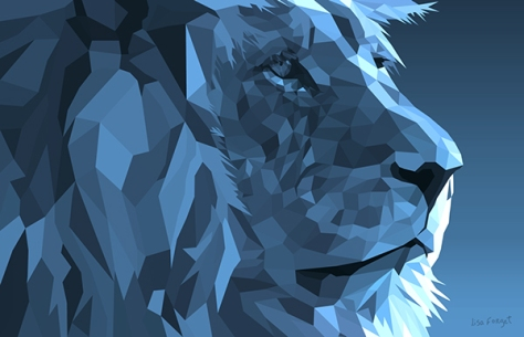 Low Poly Lion by Lisa Dutra