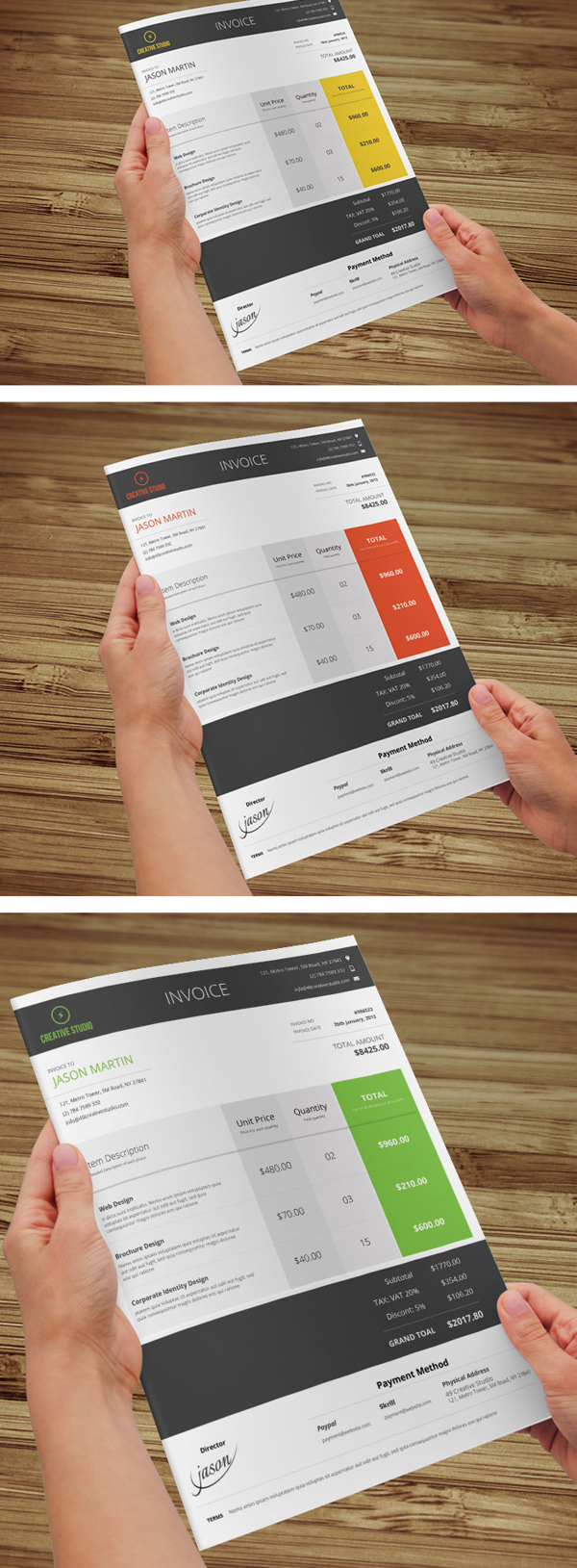 Minimal Business Invoice by Bouncy Studio