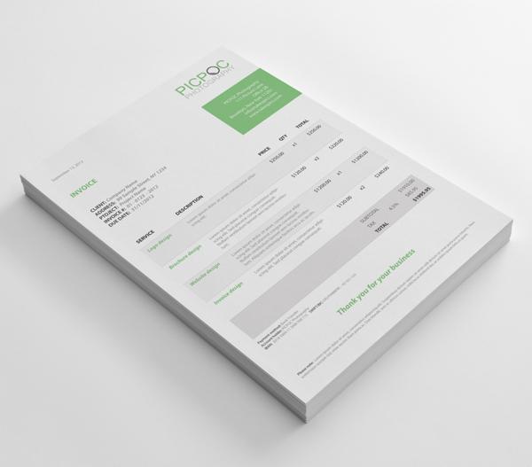Modern Invoice by Christoph Herrmann