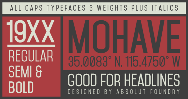 Mohave Typeface