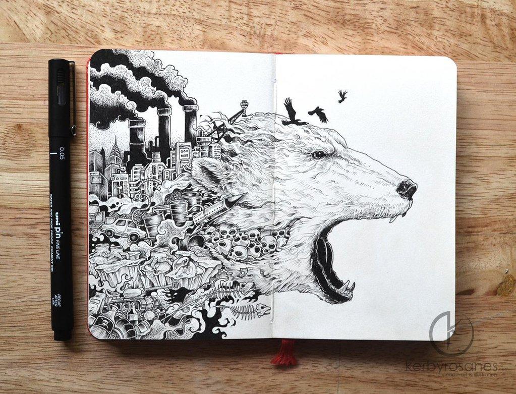moleskine_doodles__meltdown_by_kerbyrosanes-d83qc4y