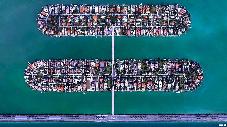 Palm Island : Hibiscus Island, Miami Beach, Florida, USA