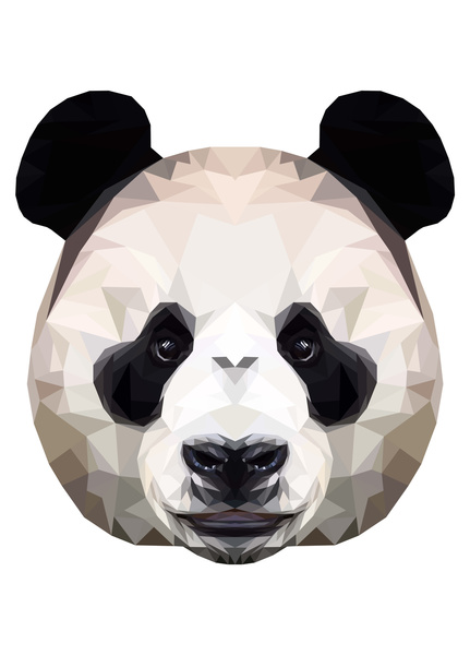 Polygon Panda by Peachandguava
