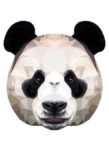 Polygon Panda by Peachandguava