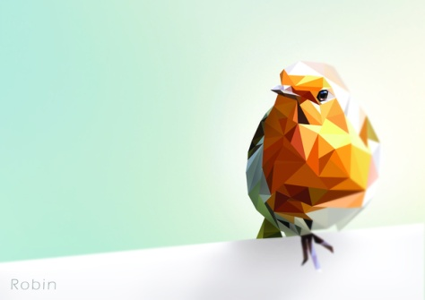 Polygon Robin by Andrew Mason