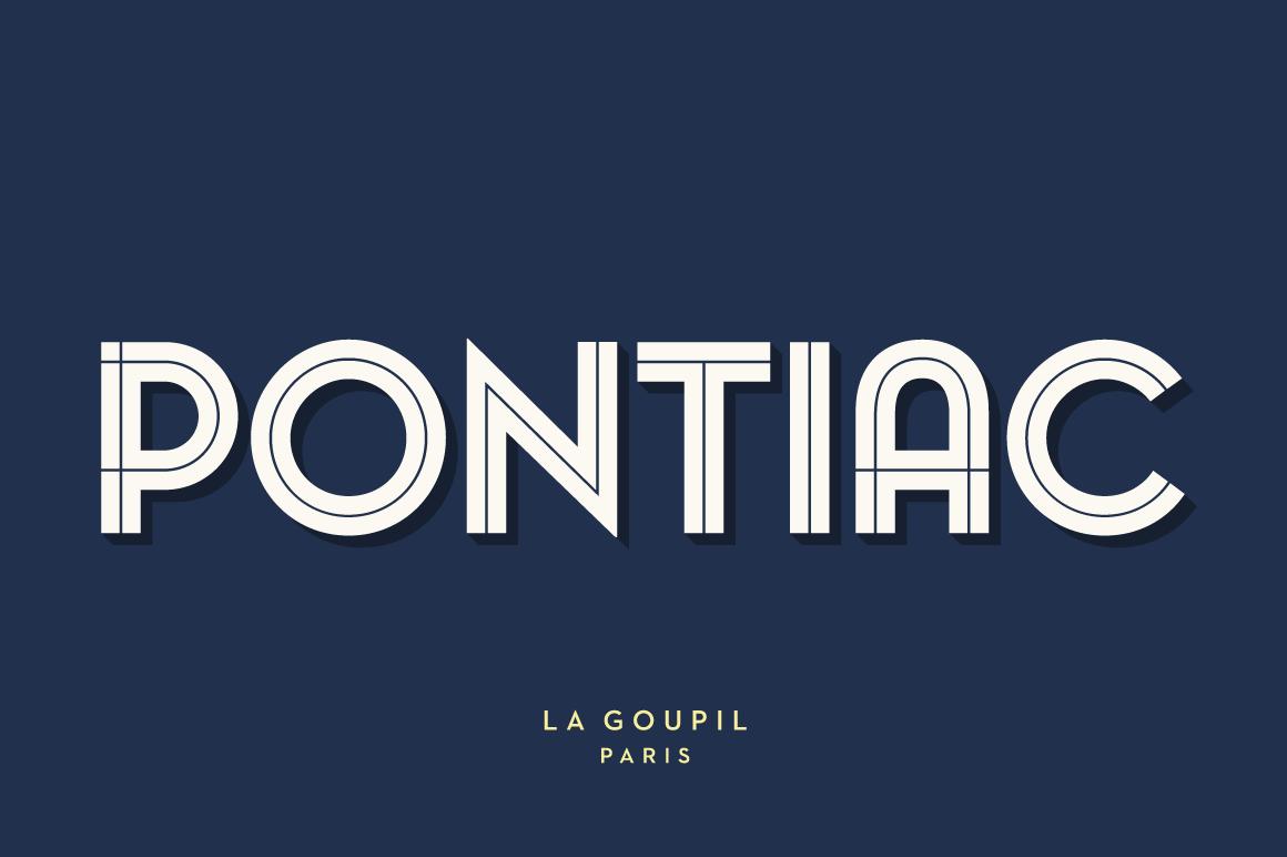 Pontiac Inline Font Pack