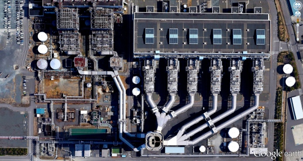Shin-Nagoya Thermal Power Station in Nagoya City, Japan