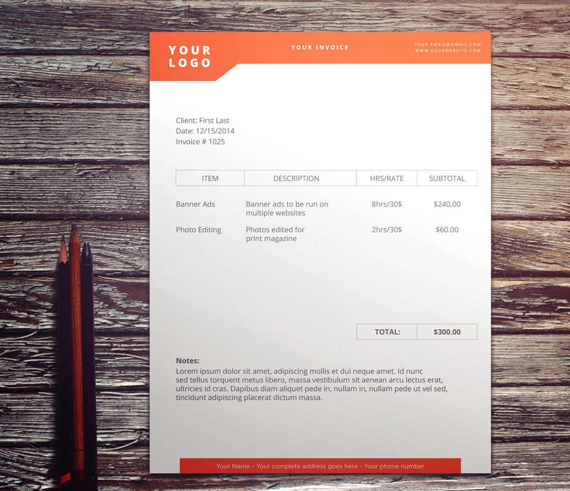 dont hold back on your invoice 25 inspiring designs inspirationfeed