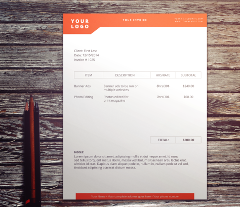 Simple Design Invoice by Nathan Thomson